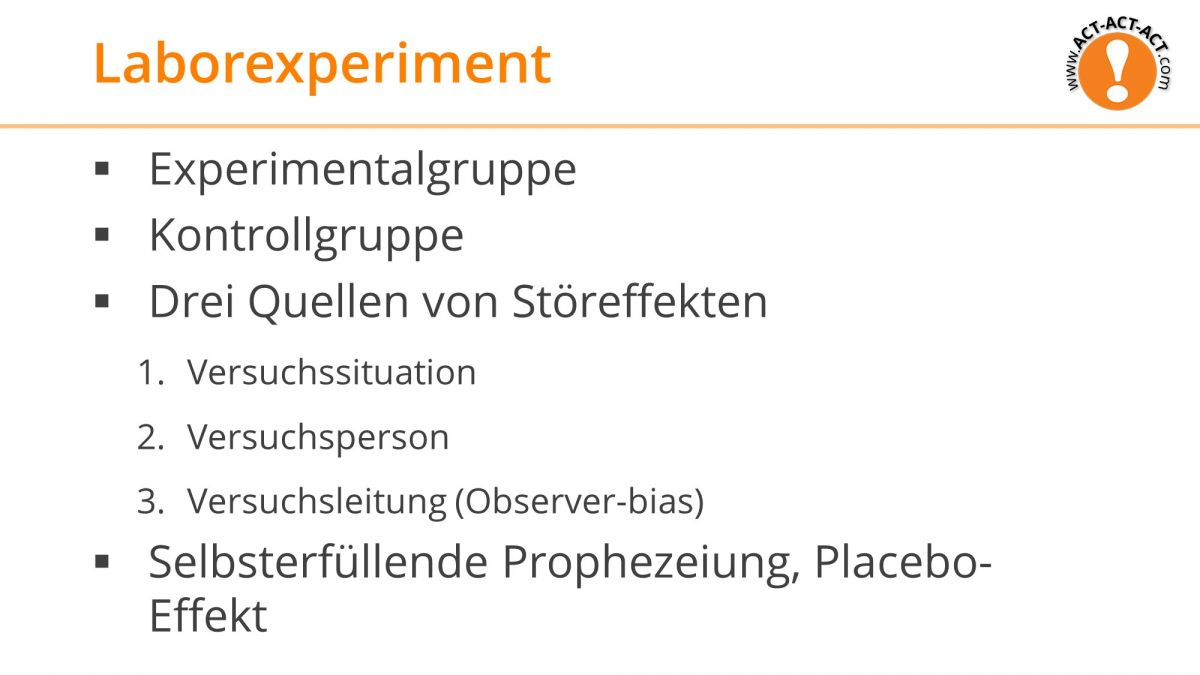 Psychologie Aufnahmetest Kapitel 3: Laborexperiment