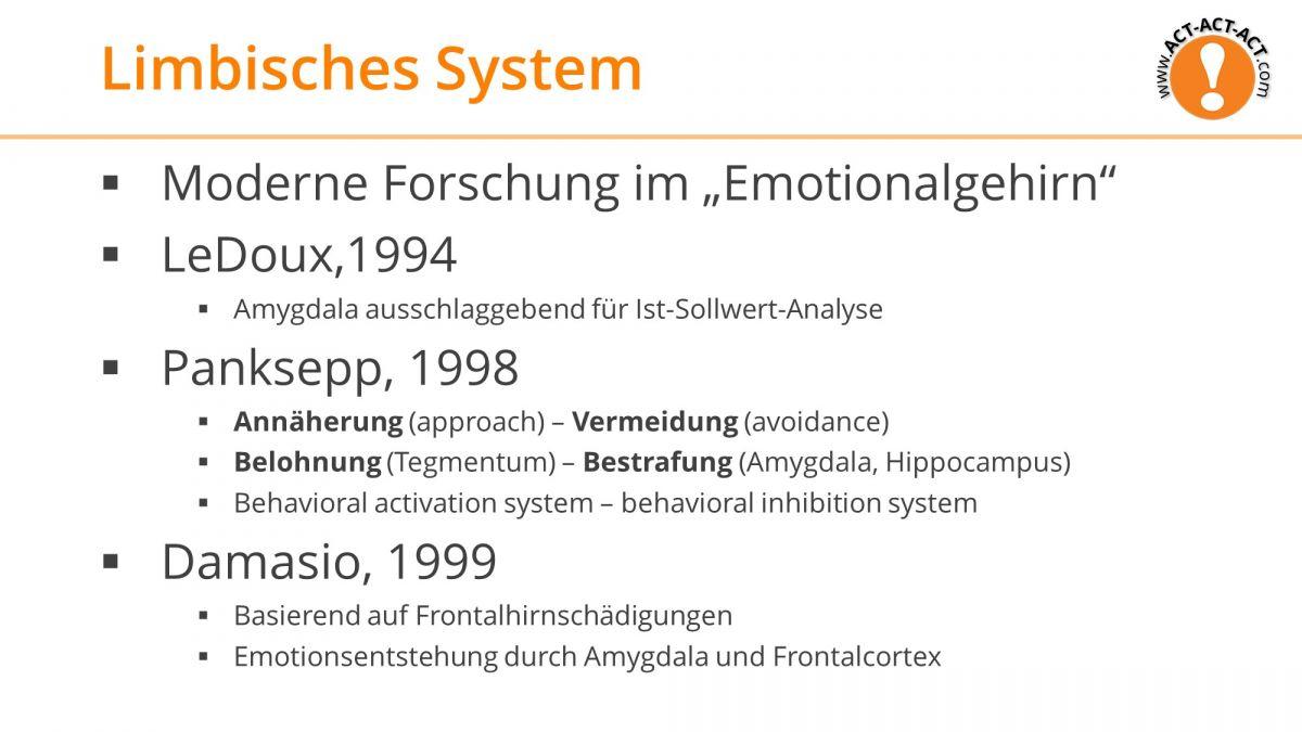 Psychologie Aufnahmetest Kapitel 9: Limbisches System