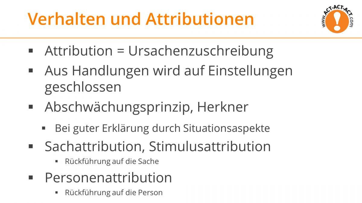Psychologie Aufnahmetest Kapitel 10: Verhalten und Attributionen