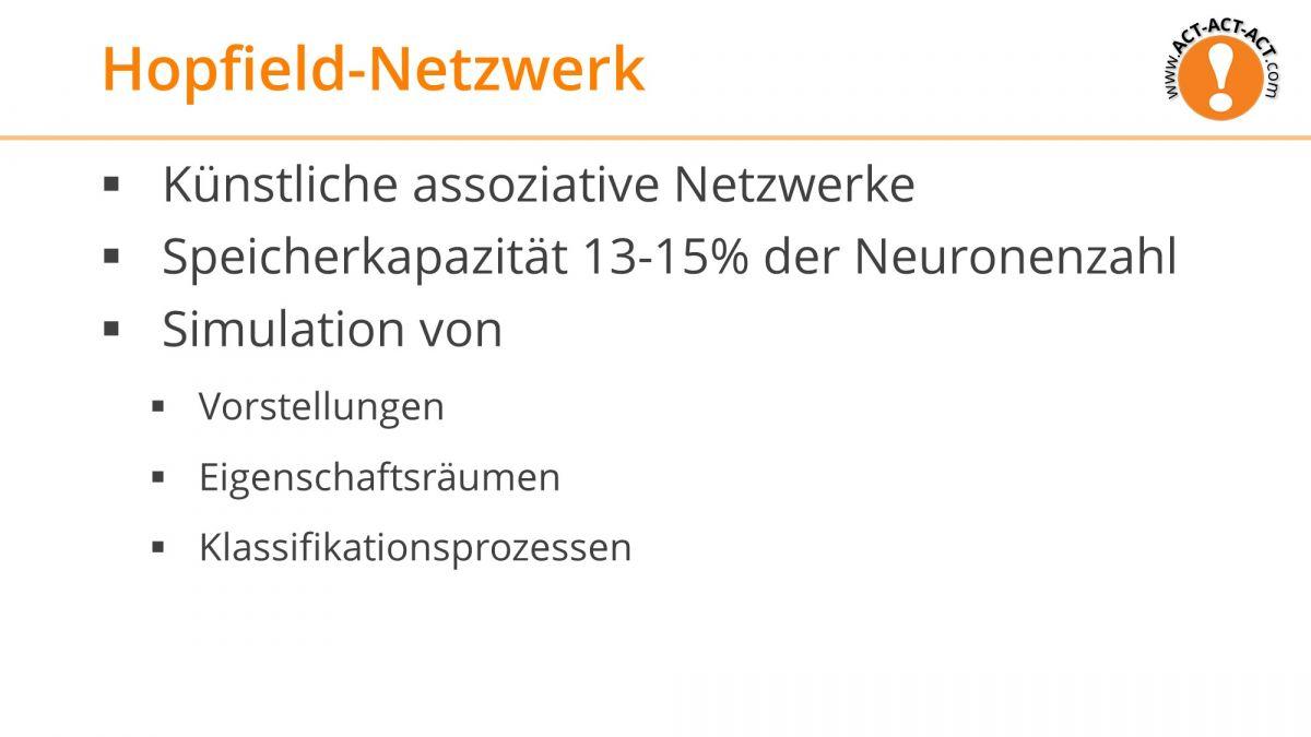 Psychologie Aufnahmetest Kapitel 7: Hopfield-Netzwerk