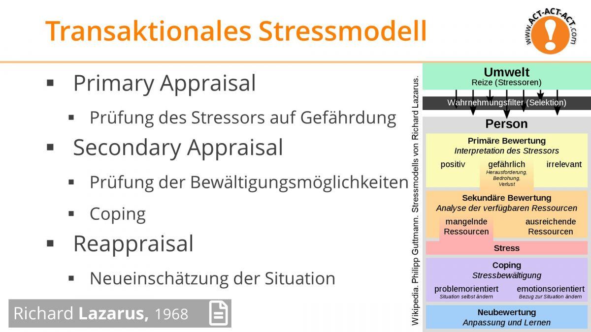 Psychologie Aufnahmetest Kapitel 12: Transaktionales Stressmodell