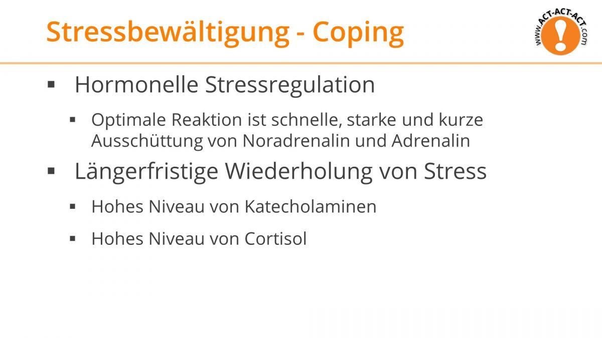 Psychologie Aufnahmetest Kapitel 12: Stressbewältigung - Coping