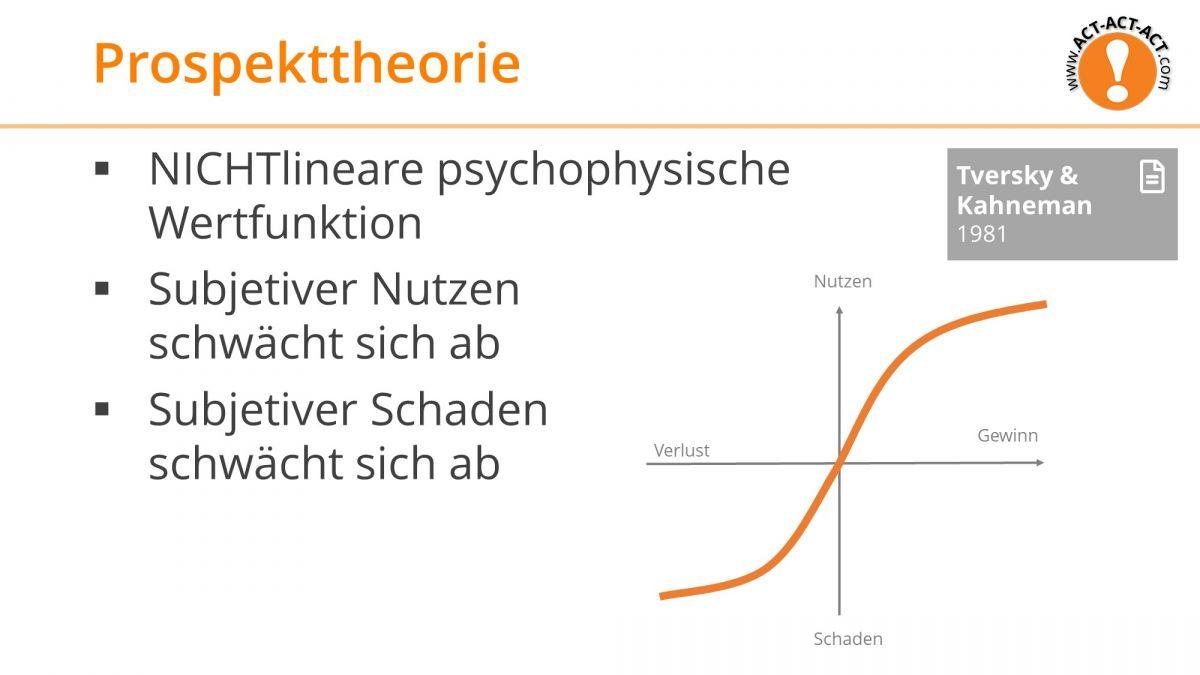 Psychologie Aufnahmetest Kapitel 8: Prospekttheorie