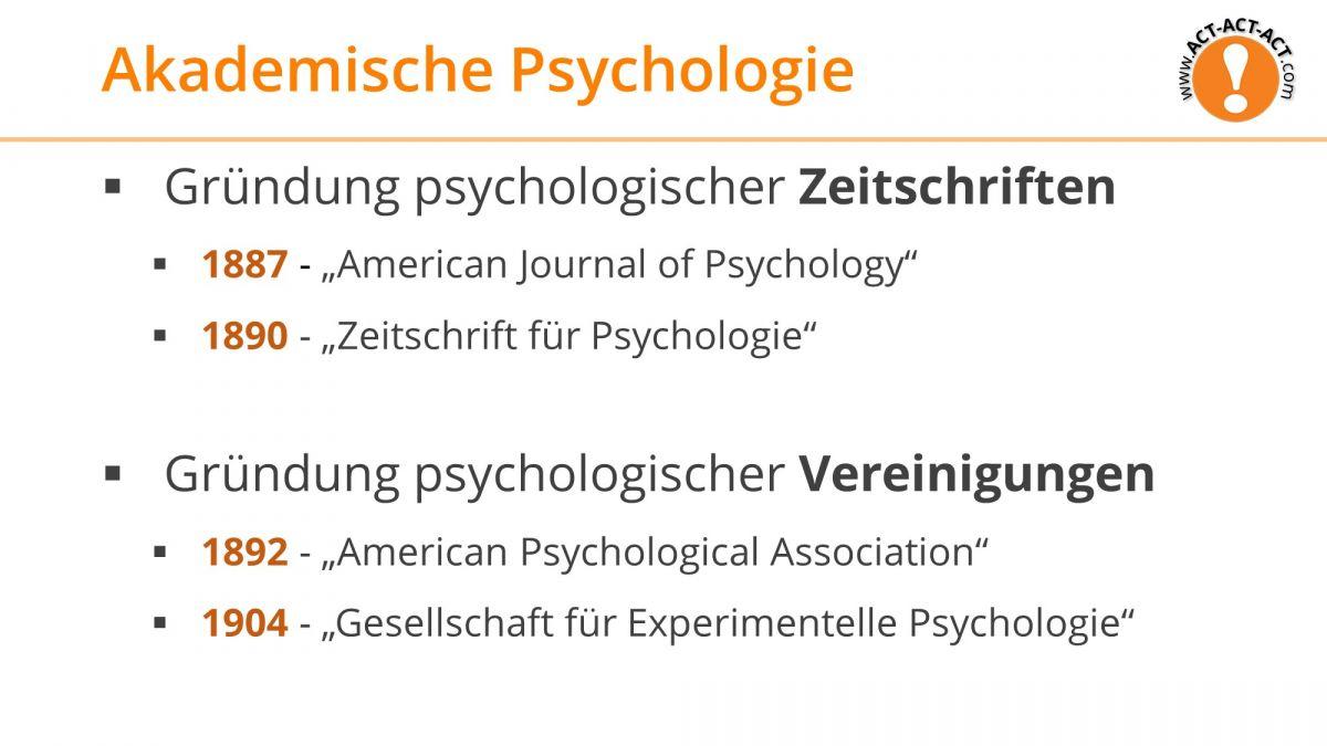 Psychologie Aufnahmetest Kapitel 1: Akademische Psychologie