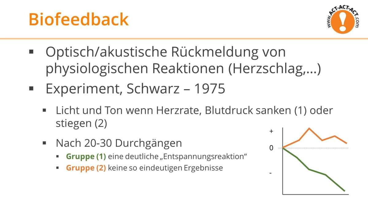Psychologie Aufnahmetest Kapitel 6: Biofeedback
