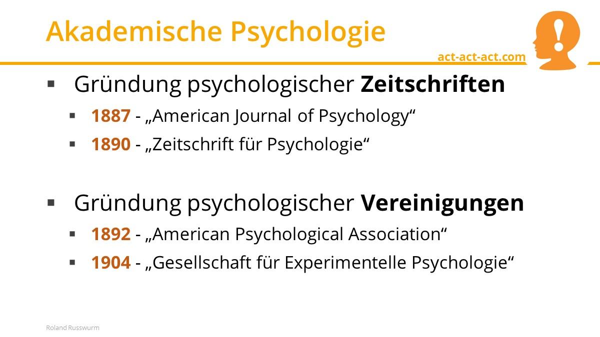 Akademische Psychologie
