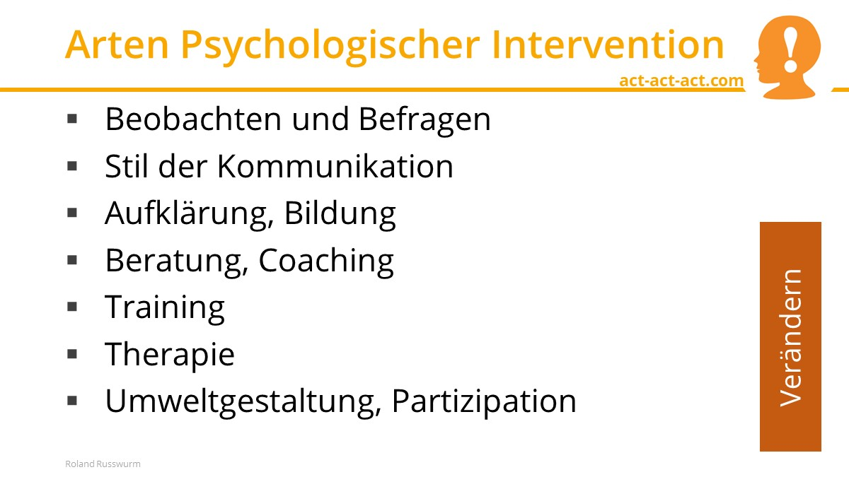 Arten Psychologischer Intervention