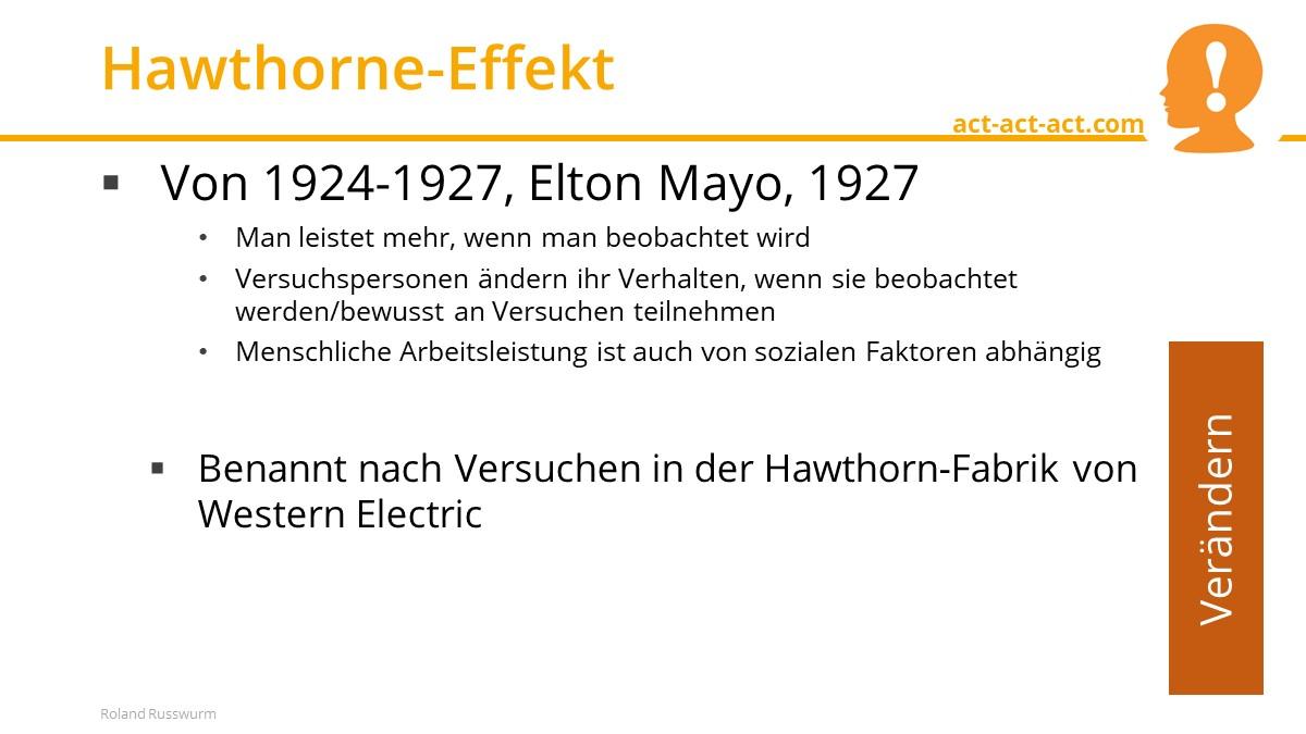 Hawthorne-Effekt