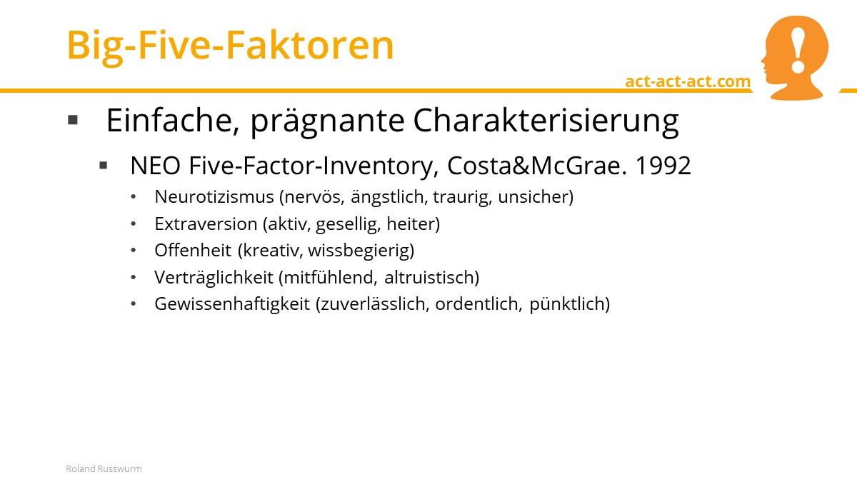 Big-Five-Faktoren