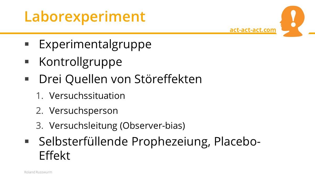 Laborexperiment