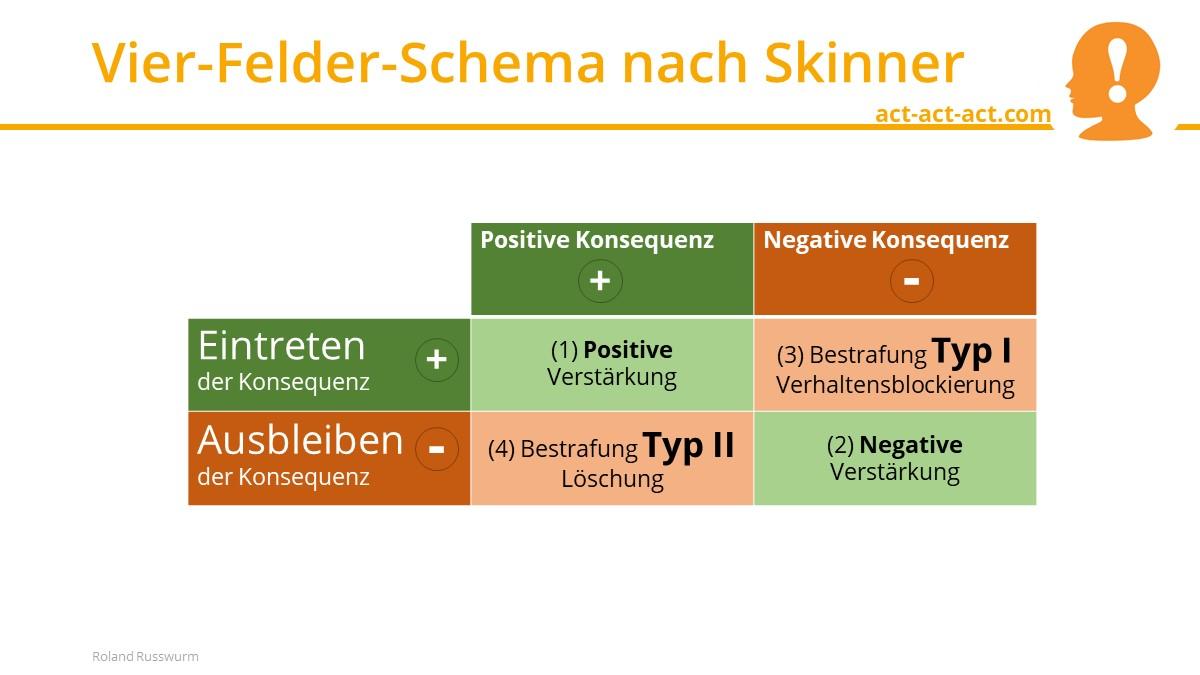 Vier-Felder-Schema nach Skinner