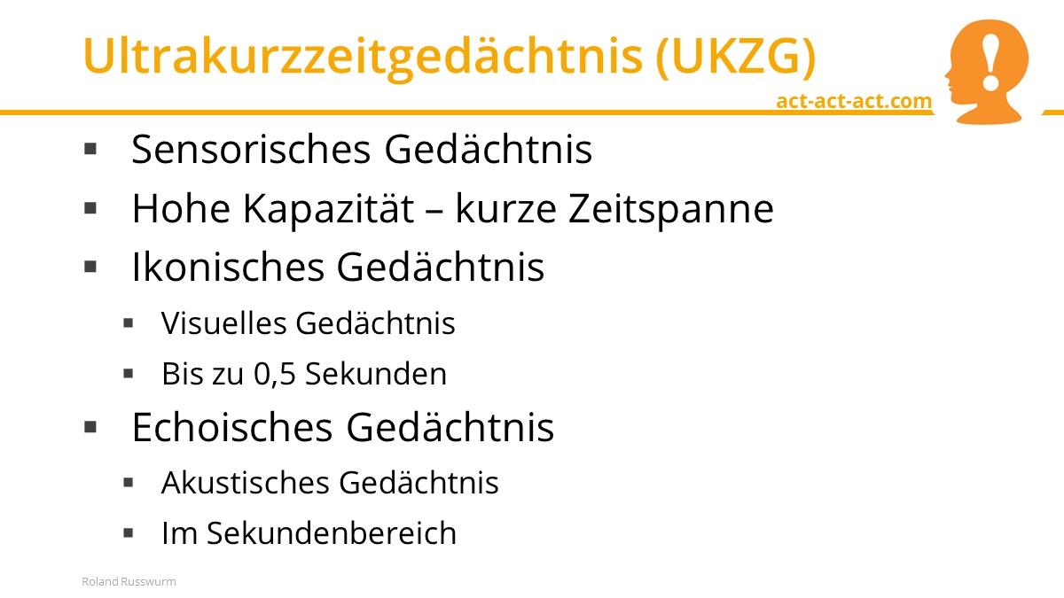 Ultrakurzzeitgedächtnis (UKZG)