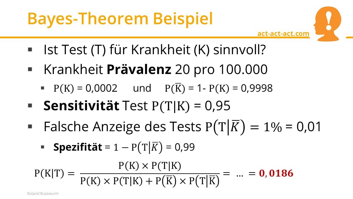 Bayes-Theorem Beispiel