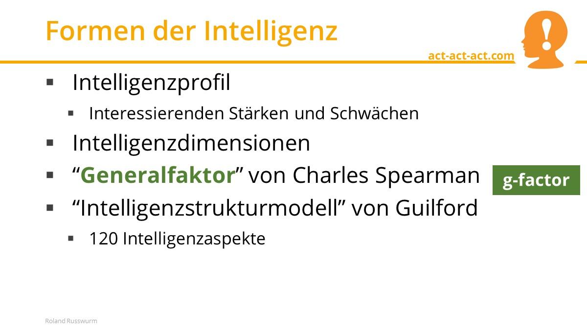 Formen der Intelligenz