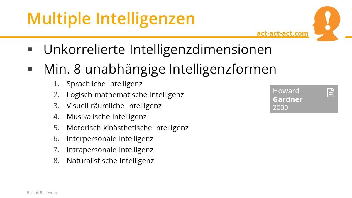 Multiple Intelligenzen