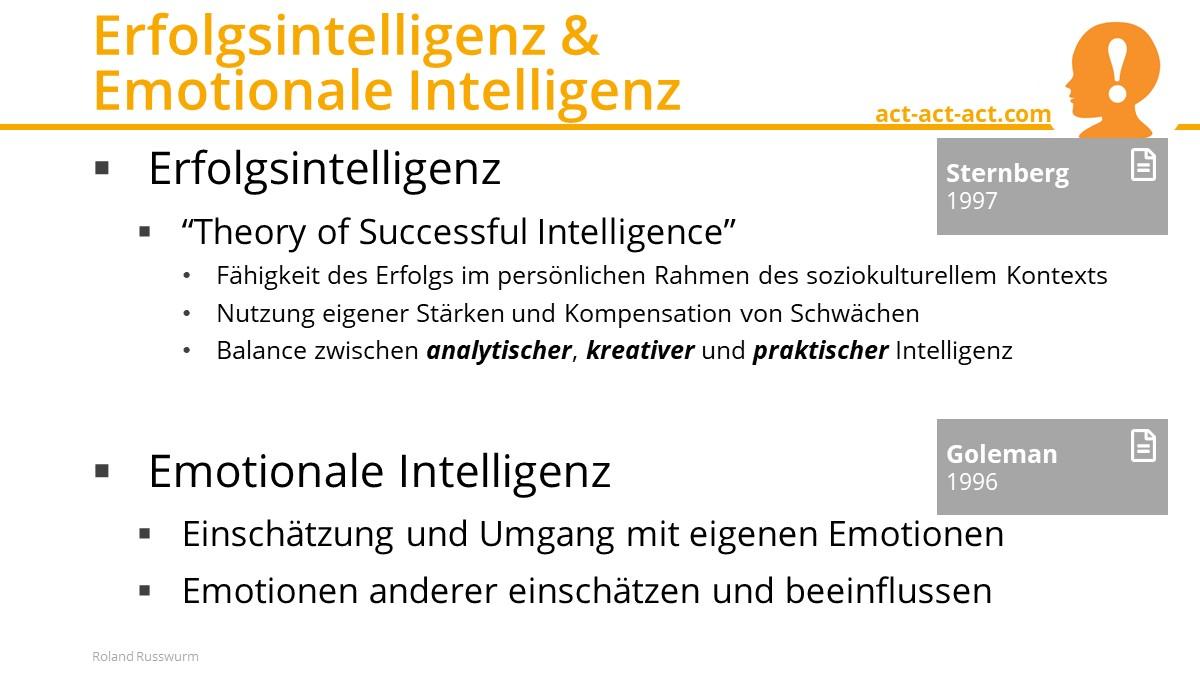 Erfolgsintelligenz & Emotionale Intelligenz