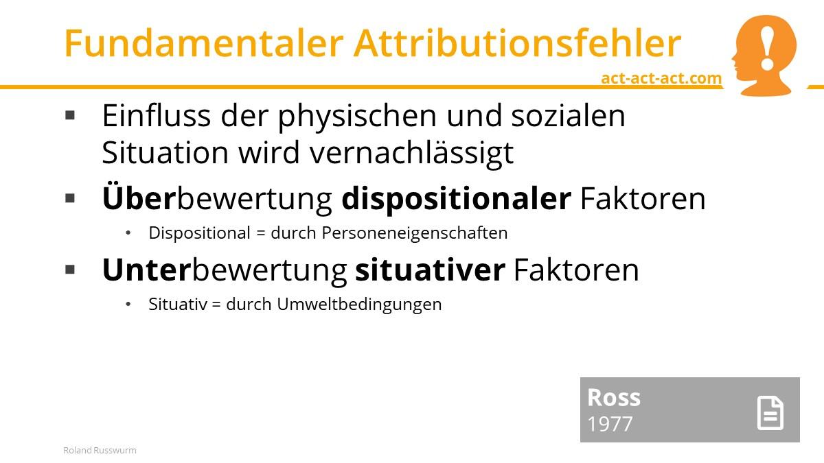 Fundamentaler Attributionsfehler