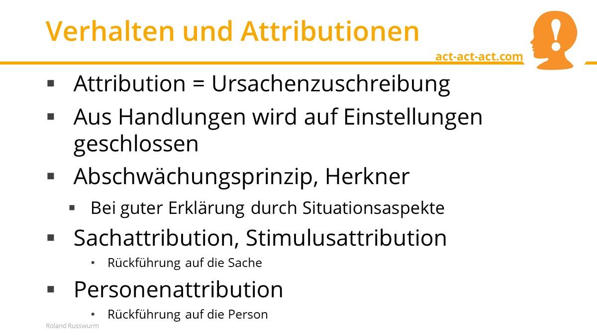 Verhalten und Attributionen