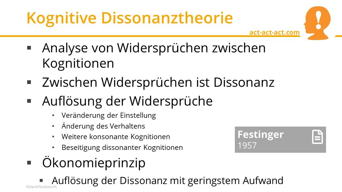 Kognitive Dissonanztheorie