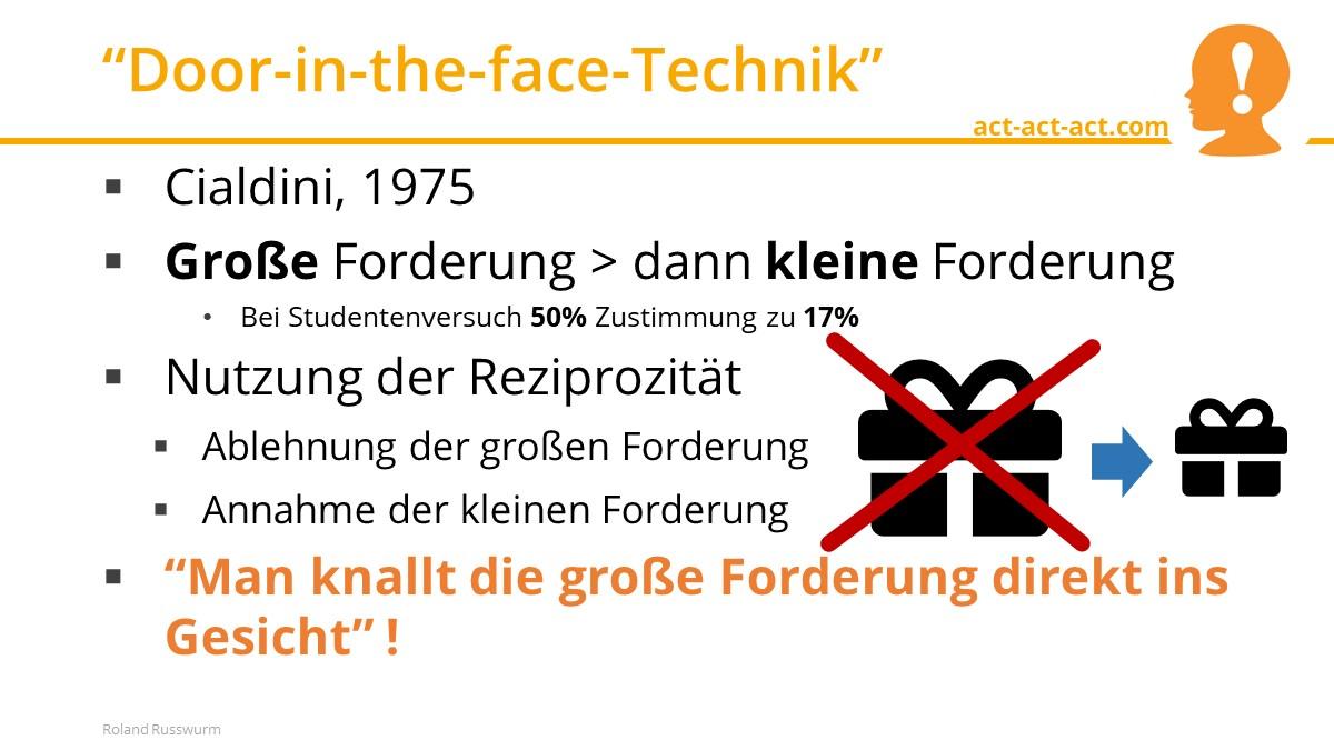 """""""Door-in-the-face-Technik"""""""