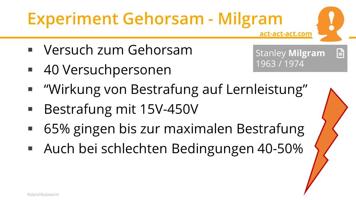 Experiment Gehorsam - Milgram
